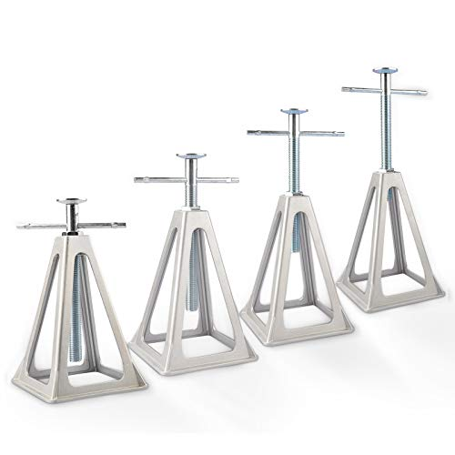 RVMATE Stack Jack 4 Pack, for RV, Camper and Trailer Stabilization, Aluminum RV Stabilizer, Adjustable from 10 inch to 17 inch
