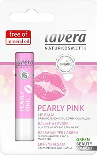 lavera Pearly Pink Baume à Lèvres touche de couleur discrète Cosmétiques naturels Ingrédients végétaux bio 100% naturel