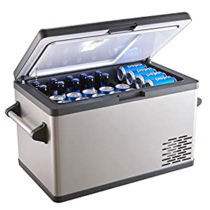Aspenora Portable Freezer Car Freezer Portable Fridge for Camping Travel Picnic RV Outdoor Home Truck SUV Driver -4°F ~ 68°F - 12V/24V DC (44-Quart)