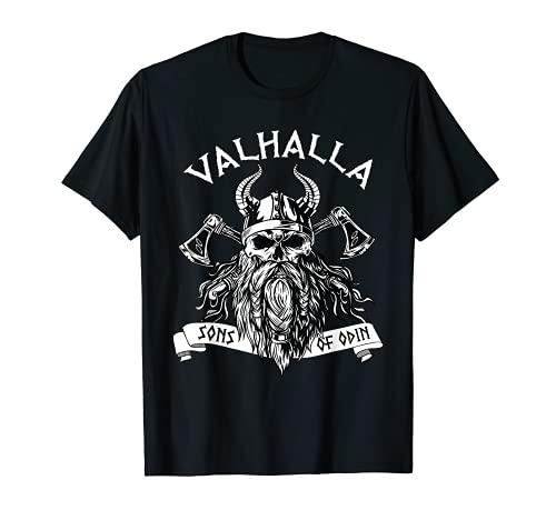 Viking Valhalla Sons Of Odin Norse Nordish Thor Mythology T-Shirt