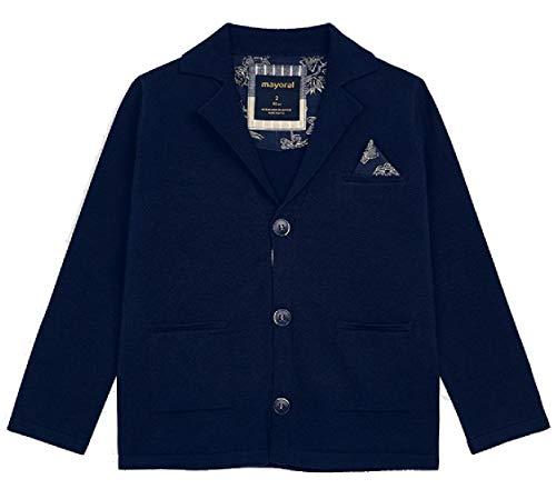 Mayoral Jungen Sweatblazer Anzugjacke Sakko Festmode, Größe:134, Farbe:Marineblau