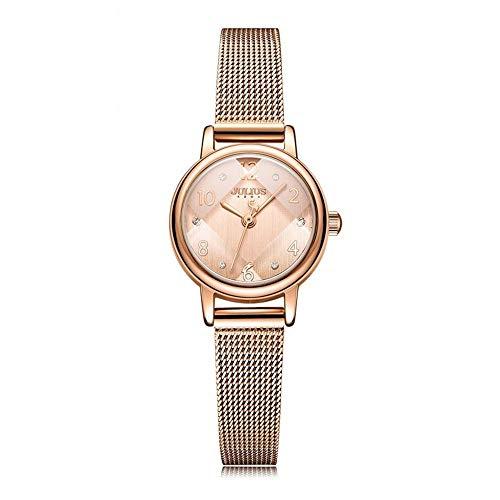 Lishaodonglishaodon Julius Pequeño Reloj de Las Mujeres del Acero del dial de la Correa Ocasional y Temperamento Sencillo Relojes de señoras (Color : B, Size : 23 * 29mm)