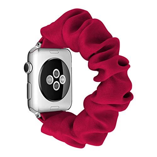 Band Scrunchie Elastic Watch Straps Banda de reloj para Apple Watch Band Series 6 SE 5 4 3 2 1 38mm 40mm 42mm 44mm para iwatch Ladies correa