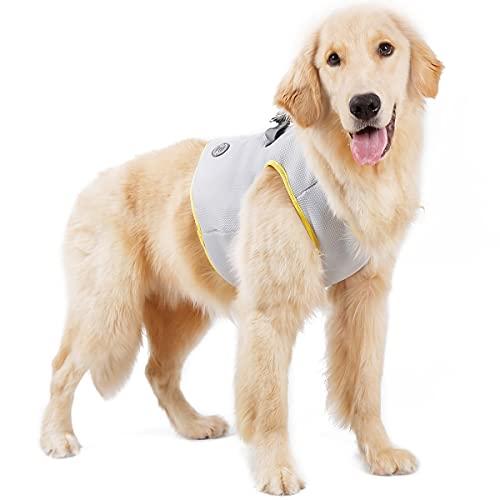 Fascia Toracica Rinfrescante Per Cani E Gatti, Gilet Cool per Cani, Rete Estiva Per Imbracatura Rinfrescante Per Animali Domestici, Imbracatura Per Gilet Per Cani