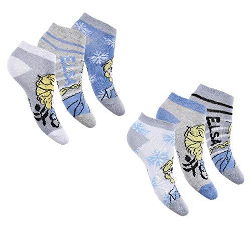 Mädchen Sneaker Socken   Die Eiskönigin Frozen Füßlinge   6 Paar 23-26 / meh