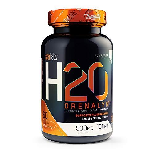 Starlabs nutrition h2o drenalyn, potente diurético - 60 capsulas
