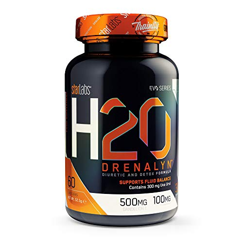 Starlabs nutrition h2o drenalyn, potente diuretico - 60 capsulas