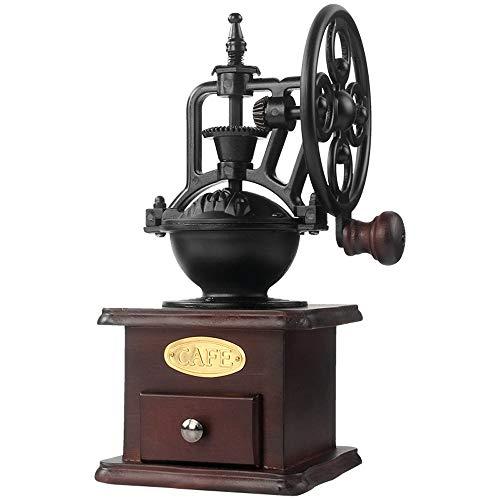 ZSLLO Handmatige Koffiemolen Antiek Gietijzeren Hand Crank Koffiemolen Met Grind Instellingen & Vang Lade Koffie bonen molen