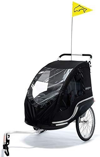 Fahrradanhänger Dolphin New Edition schwarz (Sitzfläche: 20 x 54cm / Breite: 79 cm / Gewicht: 13,3 kg / Tragfähigkeit: 45 kg)