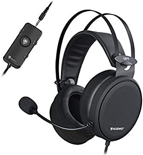 NUBWO PS4 Xbox one Headset 7.1 Surround Sound PC USB Gaming Headset with Noise Reduction Mic, Over Ear Headphones with Game&Chat Volume Controls for PC/Playstation 4/Xbox 1