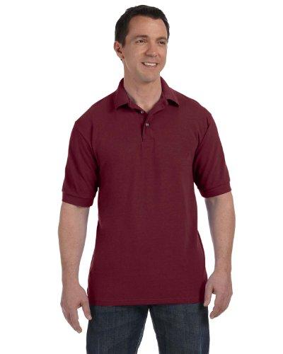 Hanes Herren Poloshirt, 055X, Rot, 055X L