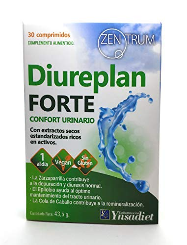 SUPPLEMENT TO MAINTAIN THE HEALTH OF THE URINARY TRACT - DIUREPLAN + VITAMIN C - IMPROVE YOUR DIGESTIVE HEALTH - 1 CAPSULE A DAY   SUITABLE FOR VEGANS   GLUTEN FREE   30 TABLETS   100% NATURAL