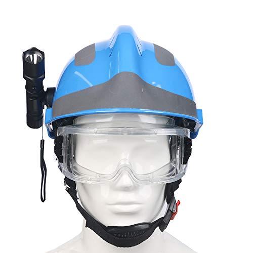 Rettungshelm Für Erwachsene, Atmungsaktiver ABS-Antikollisions-Bauhelm, Erdbeben-Rettungshelm-Set Mit Taschenlampe Und Schutzbrille, Outdoor-Abenteuerhelm Für Männer Und Frauen