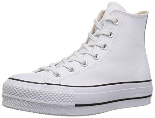 Converse Chuck Taylor CTAS Lift Clean Hi, Zapatillas Altas Mujer, Blanco (White/Black/White 102), 36 EU