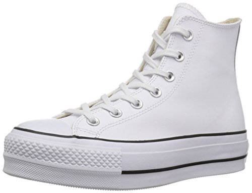 Converse Chuck Taylor CTAS Lift Clean Hi, Zapatillas Altas Mujer, Blanco (White/Black/White 102), 39 EU