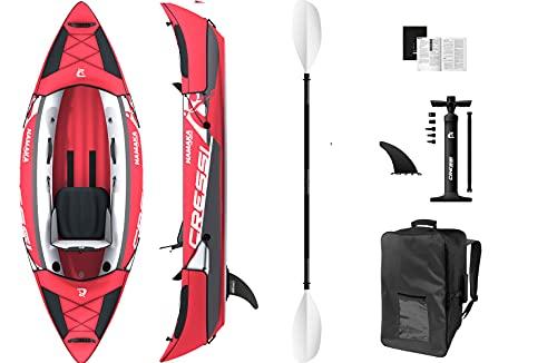 Cressi Namaka Single Seat Ikayak Set 8'2'', Kayak Gonfiabile Unisex Adulto, Rosso, Unica