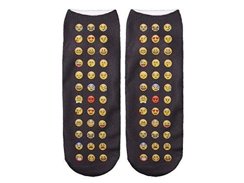Unbekannt Socken bunt mit lustigen Motiven Print Socken Motivsocken Damen Herren ALSINO, Variante wählen:SO-L025 Emoticon all