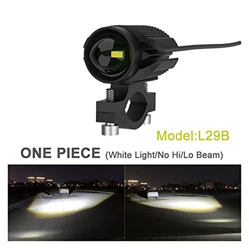 FANGFANGWAN 15W Super Brillante Tri-Modelo Motocicleta LED Faro con Mini proyector Lens Coche ATV Conducción FOGLIGHT AUSILIARY SCOTTURE (Color : L29B One Piece)