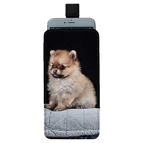 Giftoyo Pomeranian Puppy Bolsa universal para teléfono celular
