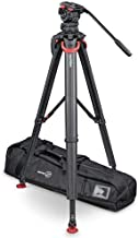 Sachtler FSB 10 FT MS System with flowtech 100 Tripod, Mid-Level Spreader, Rubber Feet and Padded Bag