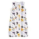 Nabance Saco de Dormir para Bebés Niños y Niñas Saco de Dormir de Algodón 0.5 TOG Mantas para Bebés 18-36 Meses Patrón Animal