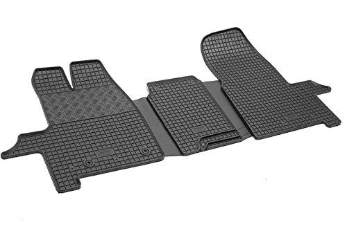 900972 - Tappetini auto Specifici Vera gomma inodore Colore nero (solo per modello a 3 posti a sedere)