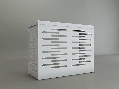 Copri Climatizzatore/Condizionatore BIANCO per Unità Esterna L900xH700xP450 in Alluminio Composito