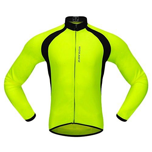 MagiDeal Maillot Cyclisme Homme Vêtements de Cyclisme en Hiver Séchage Rapide Désign Classique et Confortable - Vert, XL