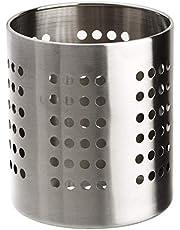 Zeller 27340 Porta-Utensilios de Cocina, Metal, Gris, 12x12x13 cm
