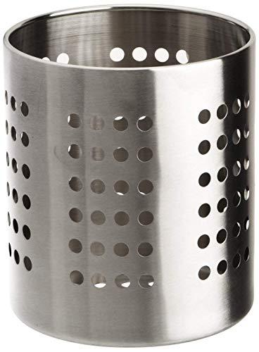 Zeller 27340 Porta-Utensilios de Cocina, Metal, Gris, 12x12x
