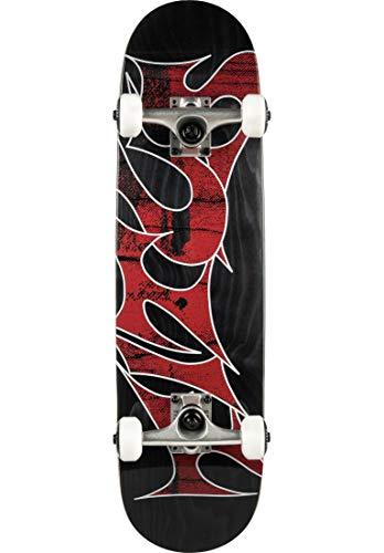 TITUS Skateboards Complete Skateboard Stained Schranz-Mini Komplett Board, Black-Stained, 7.5, bereits fertig montiert, Skateboard für Kinder, Mädchen und Junge, Markenskateboard