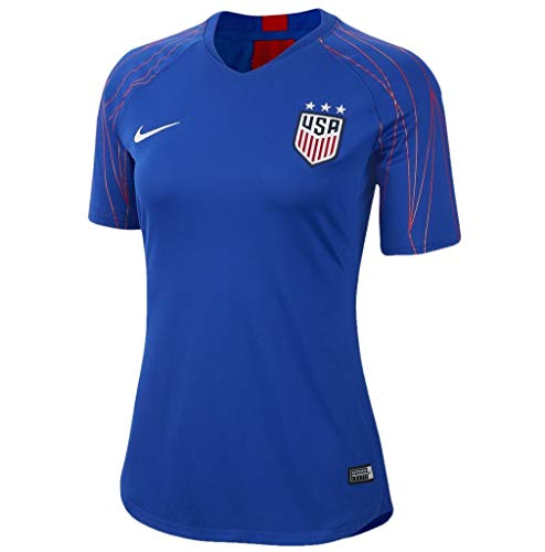 Nike Women's Soccer U.S.A. Dri-Fit Squad Training Top (Bright Blue/Speed Red/White, X-Large)