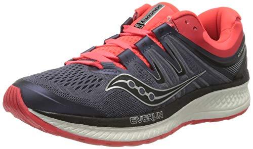 Saucony Women Hurricane ISO 4 Stability Running Shoe Running Shoes Grey - Orange 4