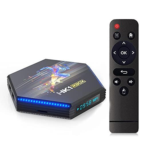 GEQWE Android TV Box, XHK1 RBOX R2 Android 11.0 TV Box 4GB RAM / 64GB ROM RK3356 Quad-Core Soporte 2.4Ghz / 5Ghz WiFi Bluetooth 4.0, 4K / 8K HDMI Smart TV Box,4gb+64gb