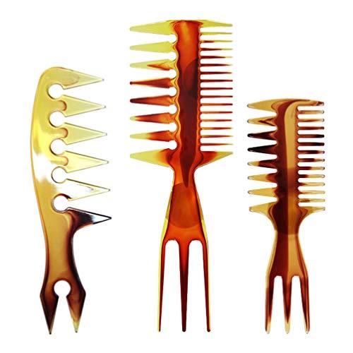 Beaupretty Vis Kam Dubbelzijdig Vis Staart Bot Vorm Plastic Kam Haar Pick Kam Tool Structuur Styler Tool Kam Voor Haarkleuring Markeren 3St