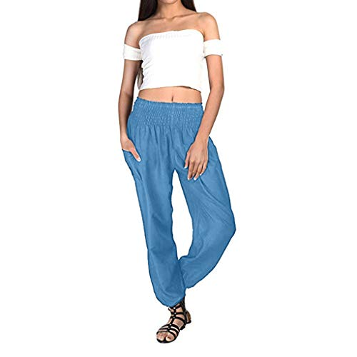 Mlide Women's Harem Trousers Hippy Aladdin Boho Style Yoga Harem Pants Casual Bloomers Pants