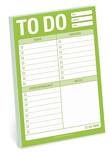 Knock Knock to Do Great Big Sticky Note, Large to-Do List Sticky Pad, 4 x 6-inches