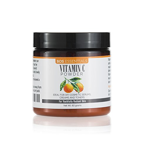 Bos Essentials Ultra Fine Cosmetic Grade Vitamin C Powder | DISSOLVES Instantly in Water | Finest Quality Available (325 MESH) | Make Your own Fresh and Effective Vitamin C serum
