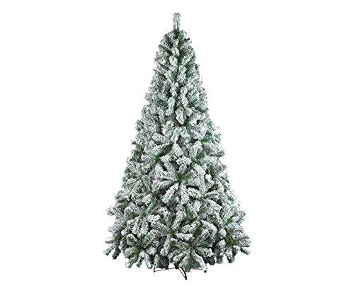 Dmora - Árbol de Navidad Maria, Altura 240 cm, Color Blanco, extragrueso, 1376 Ramas, 140 x 140 x 240 cm