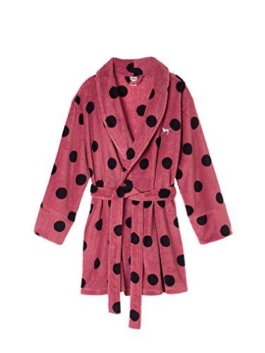 Victoria's Secret Cozy Pink Polka Dot Robe Soft Begonia XS/S