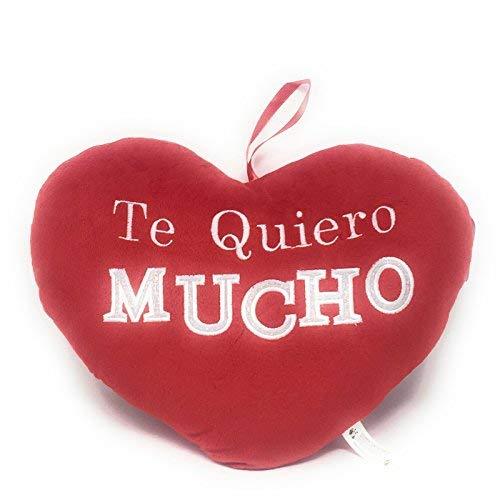 ML cojin Corazon con Frase romantica te Quiero 35cm.