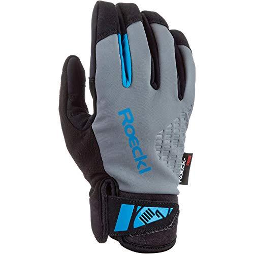 Roeckl Roen Winter Fahrrad Handschuhe grau/schwarz 2022: Größe: 8