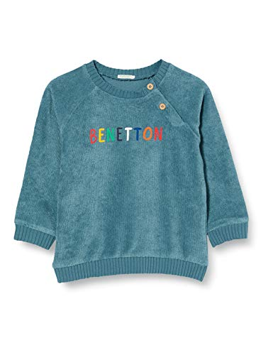 United Colors of Benetton (Z6ERJ) Maglia G/C M/L Sudadera con Capucha, Indian Teal 339, 68 cm para Bebés