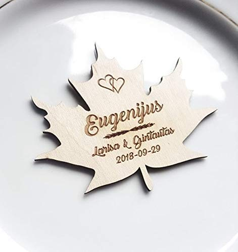 Custom Name Tag Place Cards Personalised Wood Name Cards Acrylic Laser Cut Place Setting
