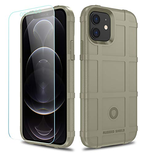 LABILUS Schutzhülle für iPhone 12, 12 Pro (15,5 cm), TPU, dick, solide Panzer, taktische Schutzhülle für iPhone 12/12 Pro (15,5 cm) – heller Ton