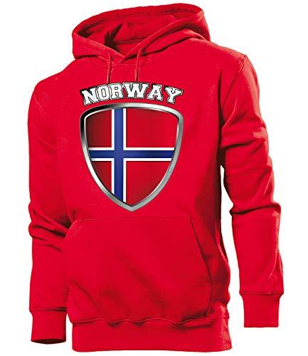 Golebros Norwegen Norway Norge Fan Artikel 4704 Hoodie Pulli Sweatshirt Kapuzen Pullover Flagge Fahne Männer Herren World Cup XXL