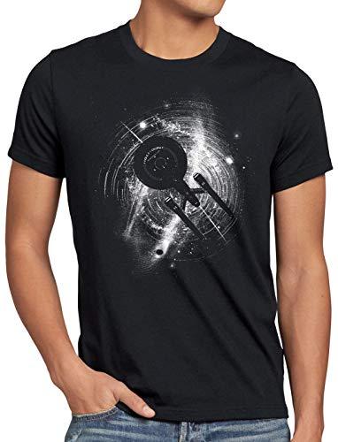 style3 Enterprise in Space Camiseta para Hombre T-Shirt NCC-1701 Trekkie Trek, Talla:2XL
