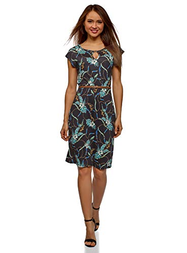 oodji Collection Women's Belted Jersey Dress