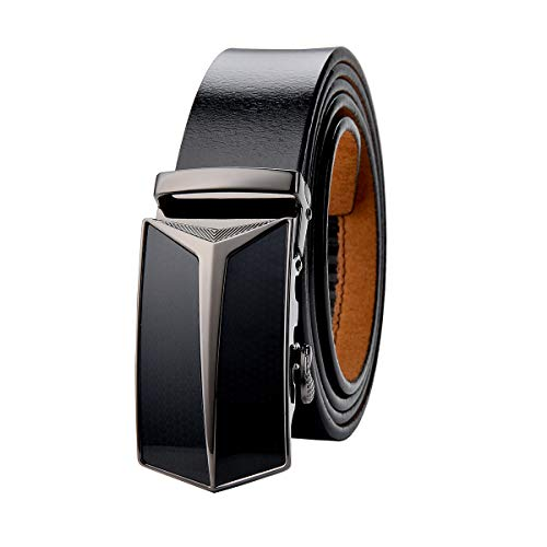 VRLEGEND Cinturón Cuero Hombre 110-170 cm Tamaño Regular & Talla Extra, Cinturones Piel con Hebilla Automática