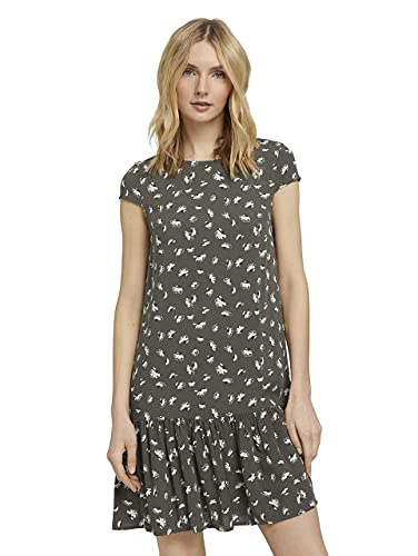 Tom Tailor 1026597 Feminine Kleid, 27429-Khaki Small Floral Design, 36 para Mujer